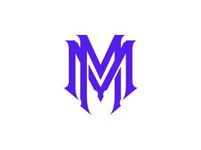 MM - Monogram Design graphic design branding lettering design logo type typography