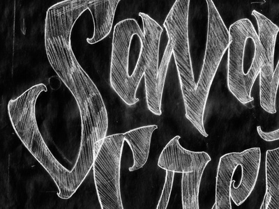 Savege Crew - Sketch Detail type illustration typography lettering