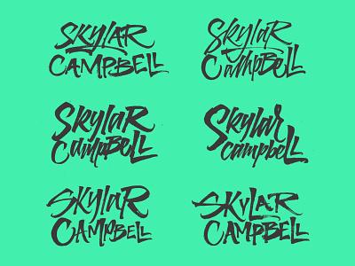 SC Sketches brushpen branding logo type typography calligraphy lettering
