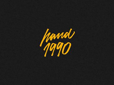 Hand 1990 - Script streetwear tshirt script calligraphy type typography lettering