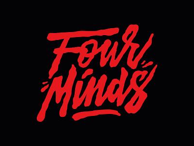 FM - Four Minds organic liquid illustration branding logo streetwear skate typography lettering