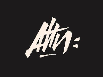 Attn: expressive trash logotype branding rebel lingerie letters brushpen type logo calligraphy typography lettering