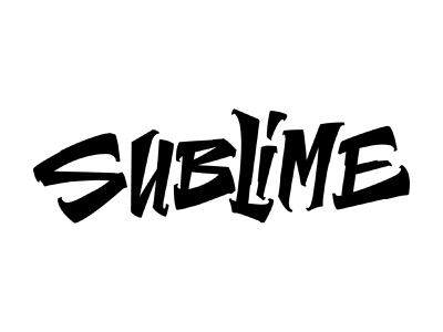 Sublime graphic design branding type letters logo typography lettering