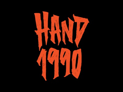 Hand 1990 - Lettering illustration textured trash apparel tshirt merch letters typography lettering