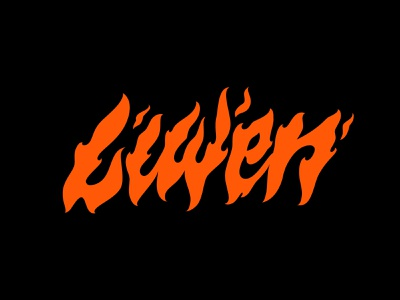 Liwen merch tshirt apparel streetwear orange organic illustrated fire letter logo letters illustration type typography lettering
