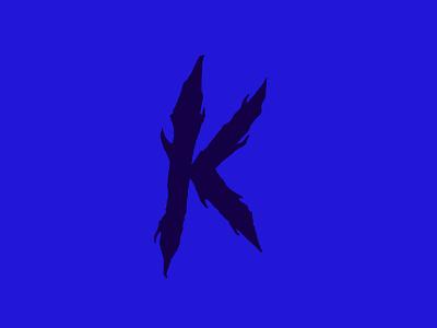 K trash metalcore death metal logo letters type lettering typography