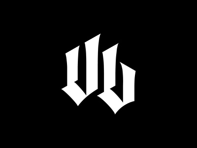 Under Life - Reduction type typography blackletter lettering reduction monogram logotype logo branding
