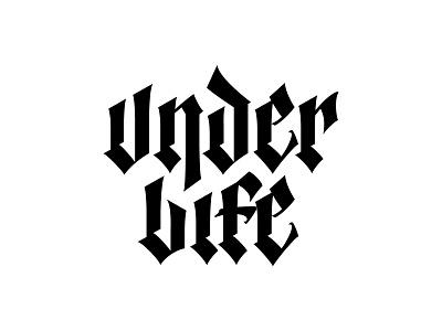 Under Life - Vertical Version blackletter branding letters logo typography lettering