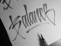 Balance - Calligraphy Sketch