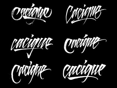 """""""Cacique"""" Lettering Logo Proposals"""