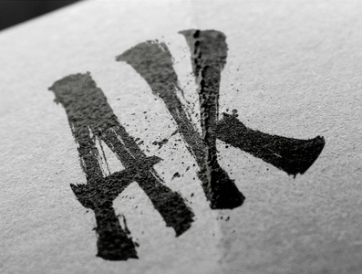 AK - Initials Logo Design - Urban photographer