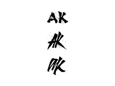 AK - Initials Logo Design - Urban photographer
