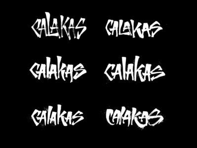 Calakas - Lettering Logo Options