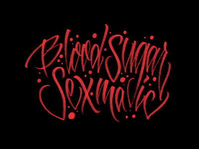 Blood Sugar Sex Magic - Lettering calligraffiti brush pen brush lettering hand lettering lettering artist lettering logo lettering art handlettering apparel handmade graphicdesign tshirt music design brushpen letters calligraphy type lettering typography