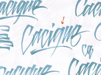 """Cacique"" Brush Lettering Sketch trap type design calligraphy logo calligraffiti handlettering lettering artist lettering logo brush lettering handmadefont handmade music design logo sketch brushpen letters calligraphy type lettering typography"