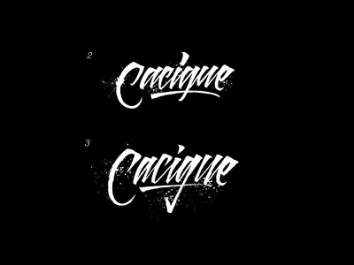 Lettering Logo - Cacique calligraphy font calligraphy logo hand lettering lettering logo lettering art handlettering calligraffiti texture handmade logo brushpen letters type calligraphy typography lettering