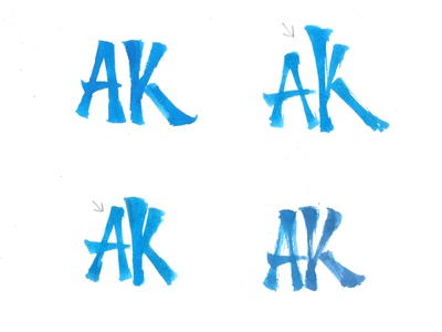 AK Brushpen Sketches monogram logo monogram initials calligraphy font calligraphy logo lettering logo calligraffiti sketch handmade logo brushpen letters calligraphy type lettering typography