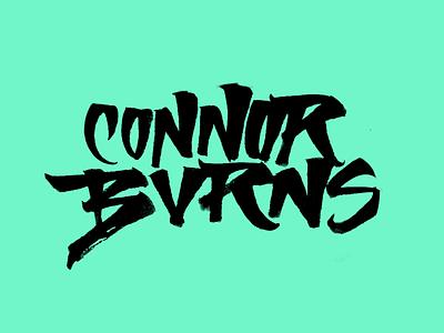 Connor Burns typedesign calligraphy logo calligraphy artist lettering logo lettering art logo handmade design brushpen type typography calligraphy lettering
