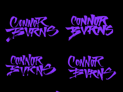 Connor Burns - Lettering
