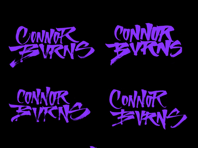 Connor Burns - Lettering calligraphy logo lettering logo lettering art illustration sketch logo design letters brushpen calligraphy type lettering typography