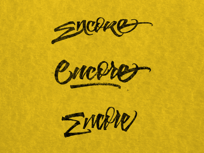 Encore - Lettering Options lettering artist typography art typographic type design typeface calligraffiti lettering logo handmade logo brushpen calligraphy type typography lettering