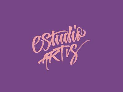 Estudio Artis - Brush Lettering Logo script artist art lettering logo calligraphy font calligraphy logo lettering art logo letters handmade design brushpen type calligraphy lettering typography