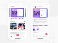 Dribbble App Redesign Concept, Debut Shot