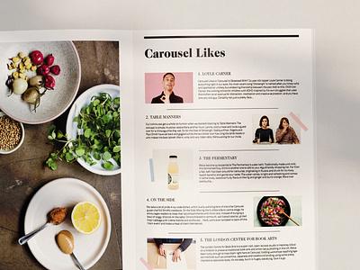 Carousel London Magazine Design editorial design ux design