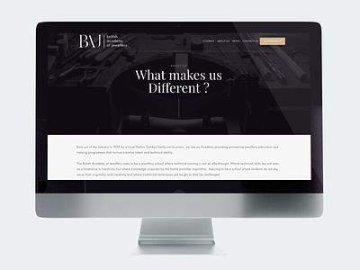 British Academy of Jewellery - Web Design webdevelopment webdeisgn branding ui ux
