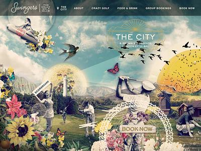 Swingers website homepage old school website web design ux design illustration