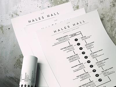 Hales Hall - event map design ux design