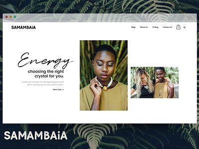 The Samambaia E-shop logo website web design design ux