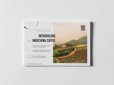 Indochina Coffee - Branding and Logo postcard branding website web design ux design