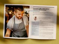 Magazine Issue 5 design - recipe