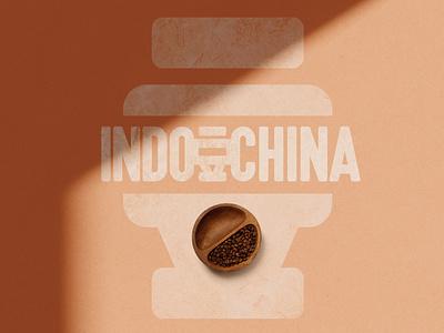 Indochina Coffee's logo design typography branding illustration logo design