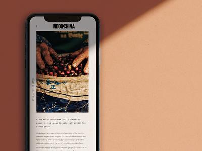 Indochina Coffee's website responsive design ui logo web design ux design