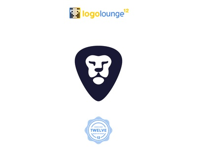 LogoLounge Book 12 lion guitar pick eight note black winner vector selection selected published logolounge12 logo lounge logolounge logo ll12 design book12 book award-winning award winning award