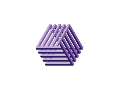 Epitome Logo intersecting mobius tribar triangle mathematical geometric impossible object vector 3d logomark logo