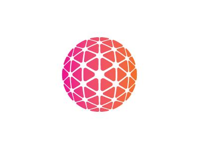 Neural Network Logo geodesic cube sphere triangle neural network 3d vector mark logo mathematical geometric