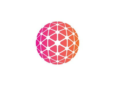 Neural Network Logo geodesic cube sphere triangle neural network 3d vector mark logo mathematical geometric