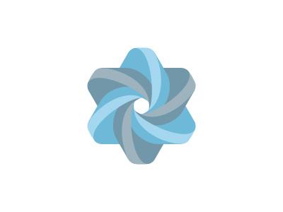 Nevus Logo triangle mobius mathematical geometric design 3d vector logomark mark logo