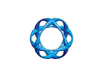 Nivial Logo gem sapphire blue faceted orb sphere mathematical geometric 3d vector mark logo