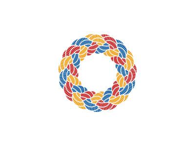 Intergrade Logo star wreath rope circle knot braid symmetrical topology mathematical geometric vector logomark mark logo