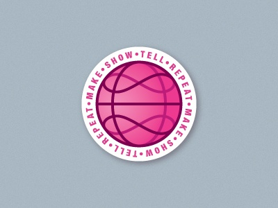 Infinity Dribbble Coaster tell repeat showcase make circle bar drinking infinity pink dirbbble ball dribbble meetup dribbble playoffs rebounds sticker mule coaster