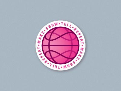 Infinity Dribbble Coaster tell repeat showcase make circle bar drinking infinity pink dirbbble ball dribbble meetup dribbble playoffs rebounds sticker mule coaster