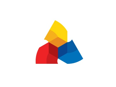 Flipping Logo arrows construction realtor real estate triskelion triskele triangle hexagon cube box moving flipping resell recycle home house