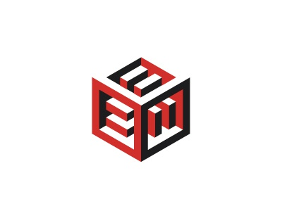 Equality Logo negative space equality cube mathematical symmetrical 3d geometric vector logomark mark logo