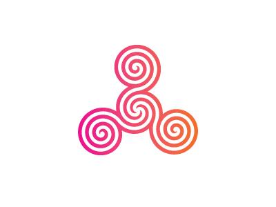 Spiral Triskelion Logo