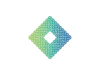 Rhombus Logo abstract diamond square monoline line intersecting rhombus knot topology mathematical design symmetrical geometric vector logomark mark logo
