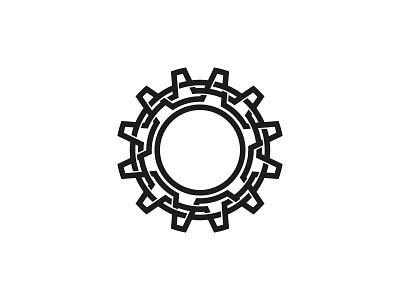 Cogwheel Logo machine cogwheel gear wheel cog symmetrical geometric vector logomark mark logo